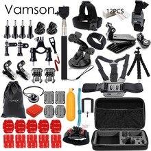 Vamson for Gopro Accessories set for go pro hero 5 4 3 kit mount for SJCAM SJ4000 / for xiaomi for yi 4k for eken h9 tripod VS84