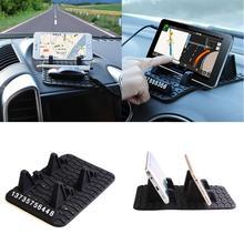 2018 hot selling Temporary Car Parking Card Anti-Slip Car Dashboard Sticky Pad Non-Slip Mat GPS Phone Holder Vicky