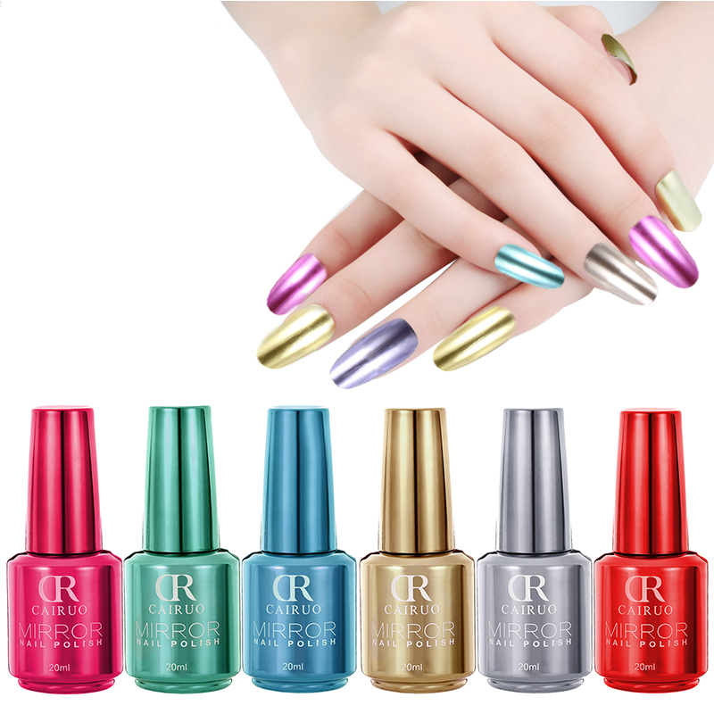 mirror effect metallic nail polish