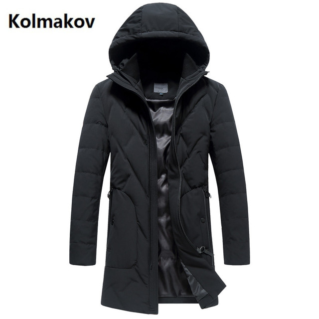 eeb31e6d59 2017 Men s winter coats Men s business casual Hooded jackets trench coat men  white duck down 90% down jacket Men s Down Coats