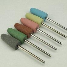 6 шт./лот Силиконовые полировщик шлифовальные ногтей сверла для электрических маникюр машина для сглаживания и начальной полировки Высокого качества
