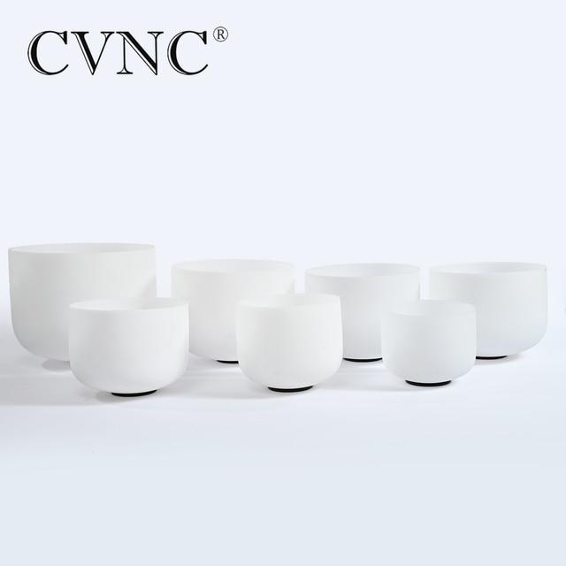 "CVNC 6 ""-12"" Nota conjunto de 7 CDEFGAB PCS Chakra Fosco Cristal de Quartzo da Bacia do Canto"