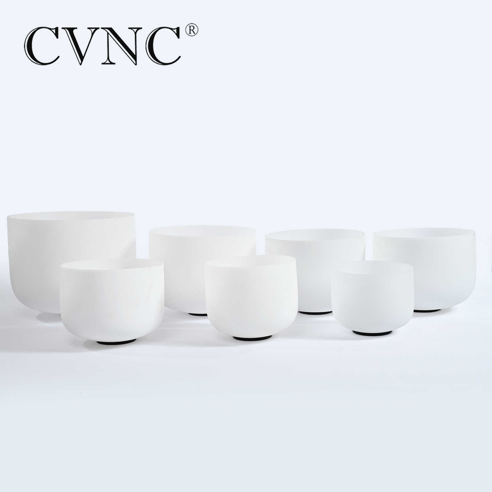 "CVNC 6 ""-12"" Note CDEFGAB Набор из 7 шт. чакра Матовый Кварцевый Кристалл Поющая чаша"