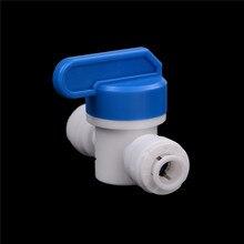"""Полезные 1/""""-1/4"""" PE трубы фитинги шланг быстрое соединение шарового клапана воды Reveser осмоса аквариумная система"""