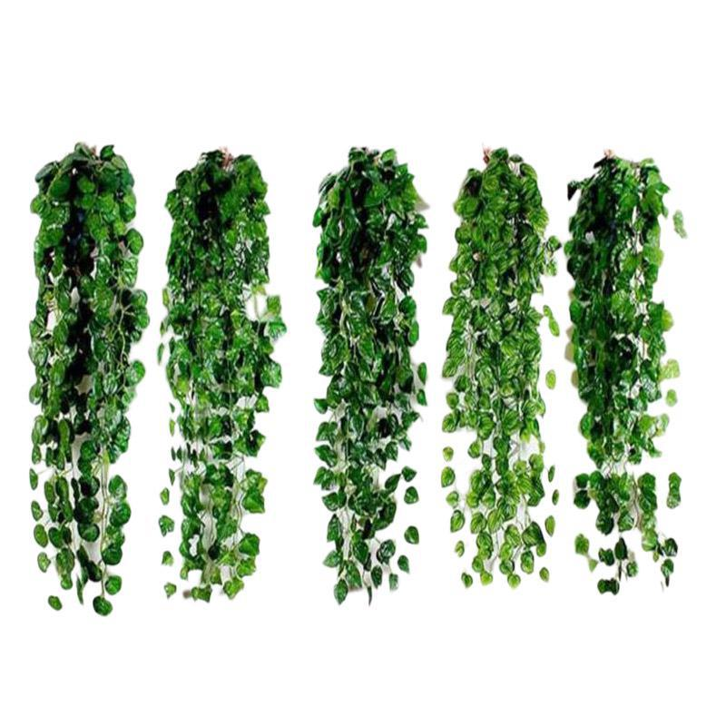 1 Pcs 2m Artificial Ivy green Leaf Garland Plants Vine Fake Foliage Flowers Home Decor Plastic Artificial Flower Rattan String1 Pcs 2m Artificial Ivy green Leaf Garland Plants Vine Fake Foliage Flowers Home Decor Plastic Artificial Flower Rattan String