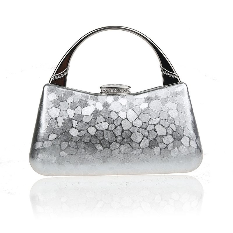 2016 New Design Silver Chinese Women Banquet Wedding Evening Bag Clutch  handbag Stylish Bride Party Purse Makeup Bag F929B-in Top-Handle Bags from  Luggage ... baba6cae4d