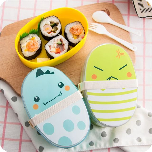 Cartoon Lunchbox with Spoon and Fork