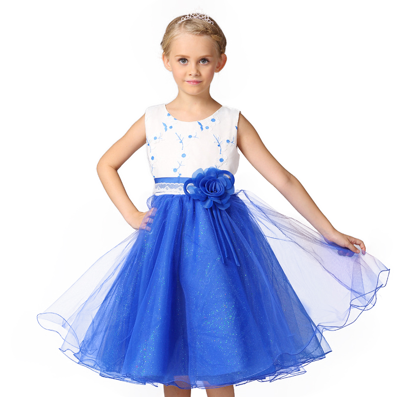 Summer 2017 Tutu Wedding Birthday Party Dresses For Girls Princess Lace flowers  Girl Dress Children's Costume Teenager Prom girl white dress rose lace costume wedding dresses princess toddler girls tutu summer party prom for girl kids evening clothing