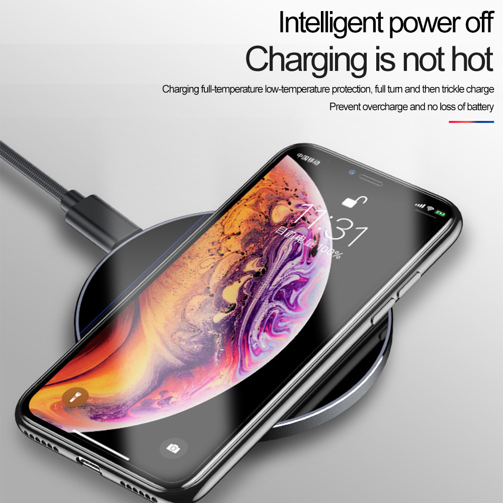 15W Qi Fast Wireless Charger for Huawei Mate20 Samsung S9 S8 S7 S6 10W Quick Charging Pad for iPhone X XS MAX XR 8 Xiaomi Mix 2S in Wireless Chargers from Cellphones Telecommunications