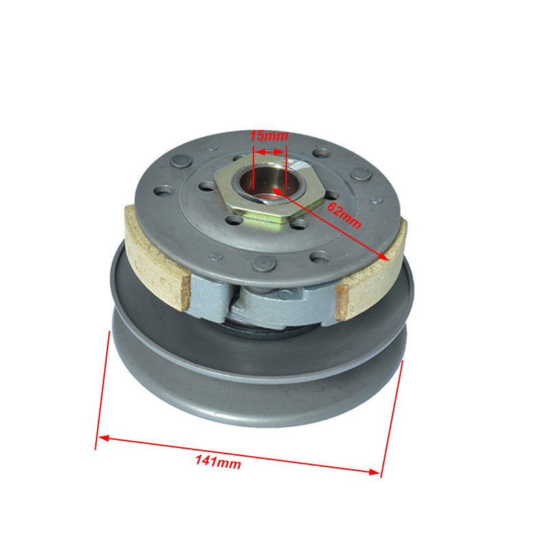 Motorcycle Belt Pulley Driven Wheel Clutch Assembly Cover Component for GY6 125cc 150cc 152QMI 157QMJ Moped Scooter TaoTao ...