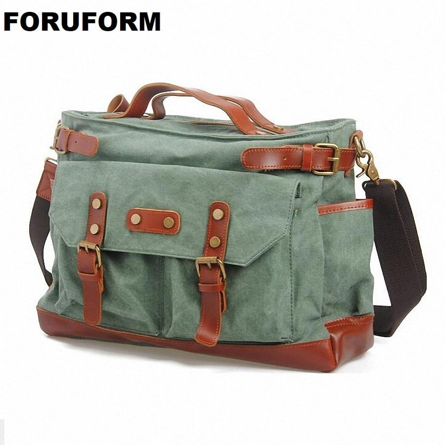 15inch laptop canvas mens school messenger bag Shoulder Bags Men Canvas cross body Bags casual travel Bags LI-444