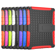 Tyre Style Duty Armor TPU+PC Tablet Cases For Apple Ipad Air 2 / iPad 6 /iPad Air2 /iPad6 Cases Covers With Kickstand