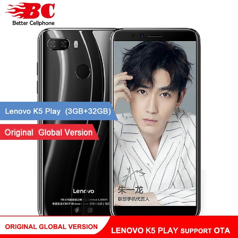 D'origine Mondial Version Lenovo K5 Play support OTA watch9 MSM8937 Octa-Core 1.4g 5.7 18:9 D'empreintes Digitales Android 8 13.0MP 3 + 32 gb