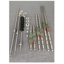 HGR20 12 шт. HGH20CA площади линейной направляющей комплекты + ballscrew SFU1605/SFU1610 ШВП + BK/BK12 + Корпус шариковинтовой передачи + муфта для ЧПУ части