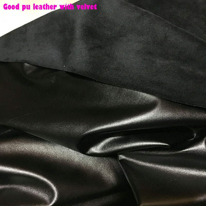 Apparel Sewing & Fabric Good 69*50cm Black Synthetic Leather With Velvet 4 Sides Stretch Pu Leather Warm Soft Faux Leather Fabric Sewing Diy Pants Yet Not Vulgar Back To Search Resultshome & Garden