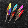 Feather Brooch Men Brooch Costumes Suit Pins Decorative Pin Wedding Party Lapel Pin Pins BADGES Broochespins for Men&women NMD1