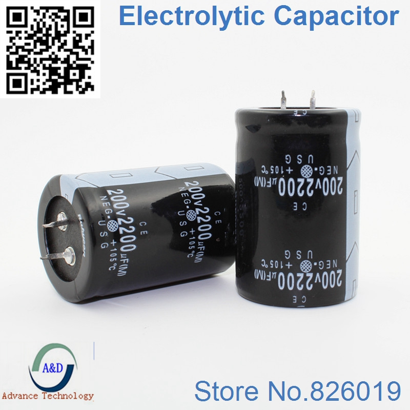 1pcs/lot 200V 2200UF Radial DIP Aluminum Electrolytic Capacitors Size 35*50 2200UF 200V Tolerance 20%