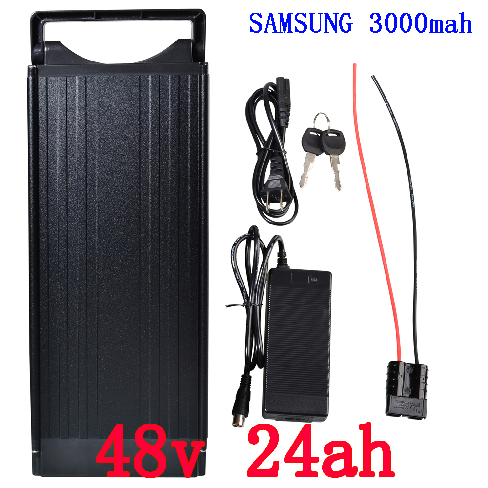 48V 24AH Portable Lithium Battery ,with 1000W BMS E-bike Electric Bicycle Scooter Lithium battery For Samsung 3000mah cell diy 48v 1000w samsung cell electric bike lithium battery 48v 30ah li ion 18650 battery with 30a bms for e bike battery