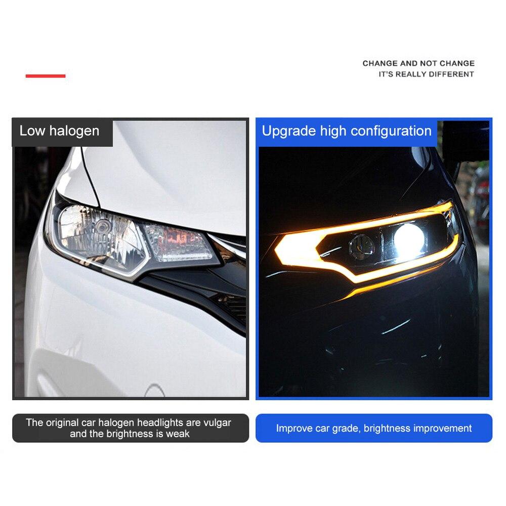 Pour 14 18 assemblage de phares GK5 Modification de voiture Guide de lumière locale LED phares au xénon de jour - 4