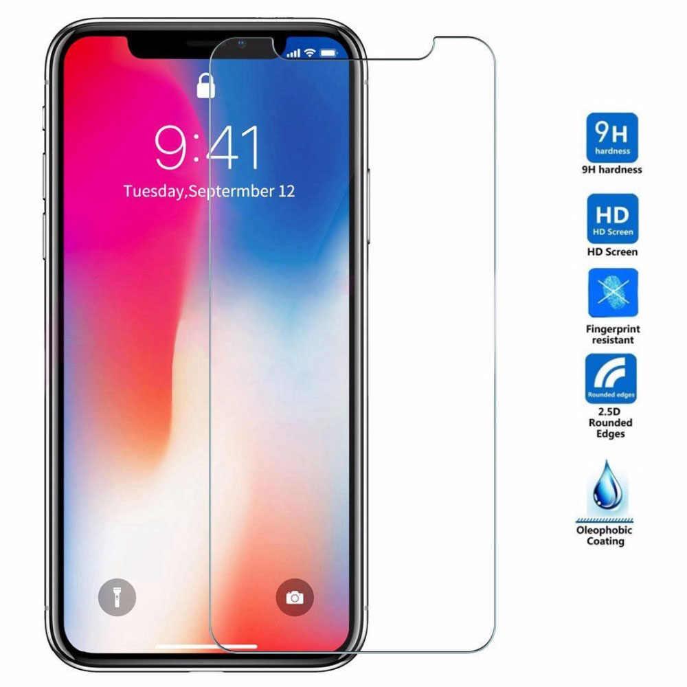 9H HD زجاج مقسى ل iphone X XS 11 Pro Max XR 7 8 واقي للشاشة 5s زجاج واقي على iphone 7 8 6s Plus X 11 Pro Glass