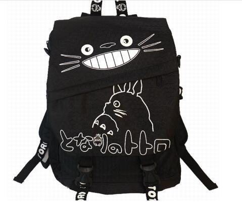 Cartone Tela Pz Giapponese Del Della Casuali Canapa Totoro lotto Scuola Sacchetto Animato Lampo Adulti Dello Chiusura Donna Stile Per Di Zaino 1 wtPqUYxSdP
