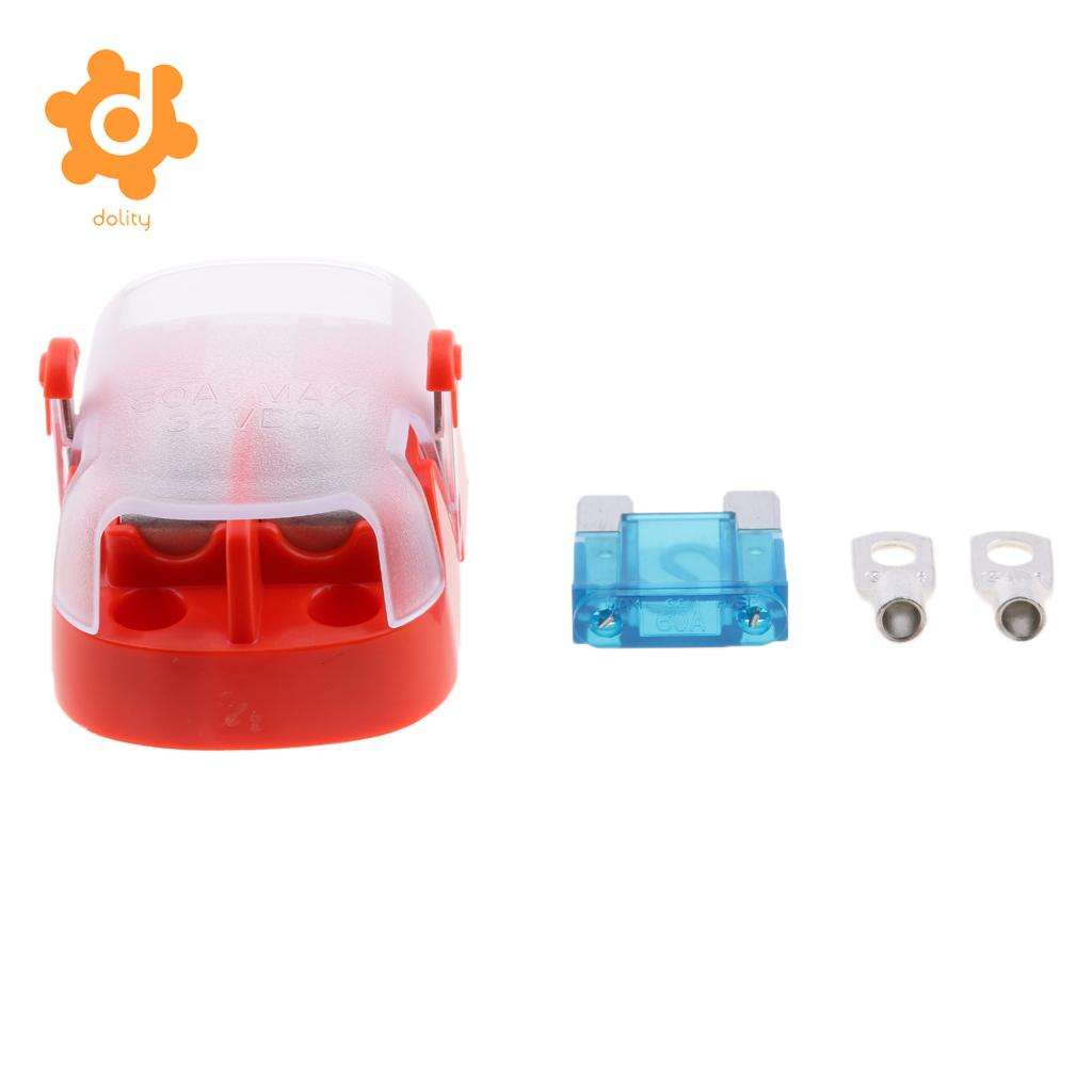 medium resolution of car truck boat maxi blade fuse block box fuse block holder universal 80a 32v