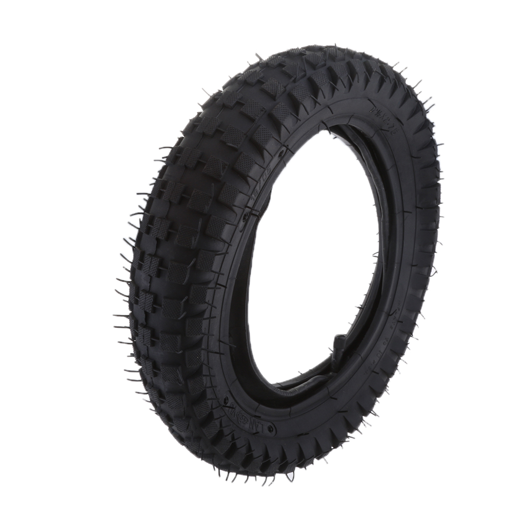 1 Piece 12.5x2.75 Rubber Tire & Inner Tube Set Inflatable Electric Scooter Tyre Razor MX350 / MX400 Dirt Bike Rocket Black