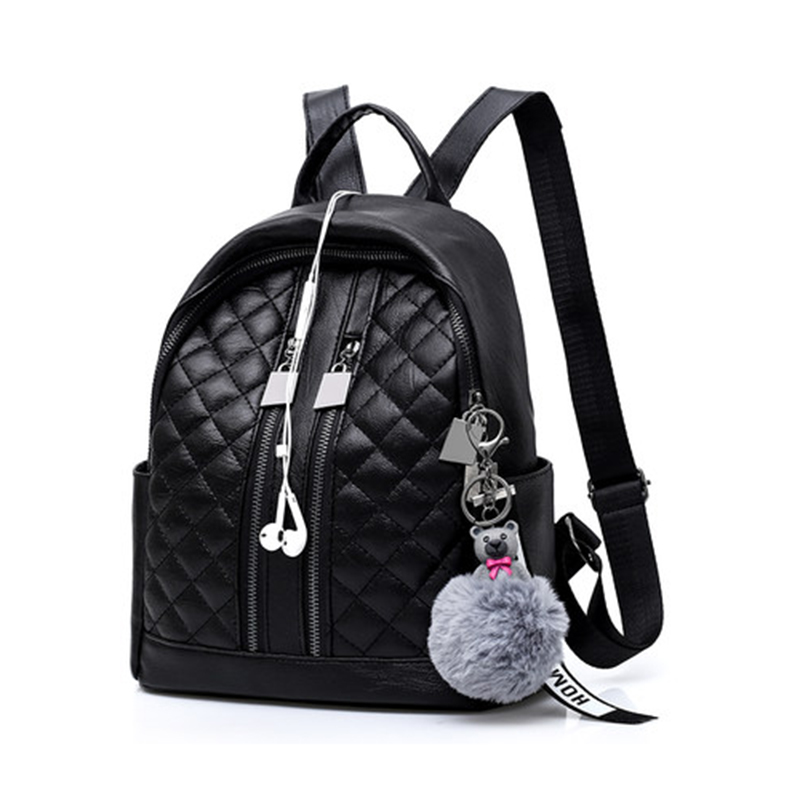 New Women Backpack Multi-functional Lady Fashion Backbags PU Leather Cute  School Bags For Teenager Girls Preppy Style Packbag 8934845fc823b