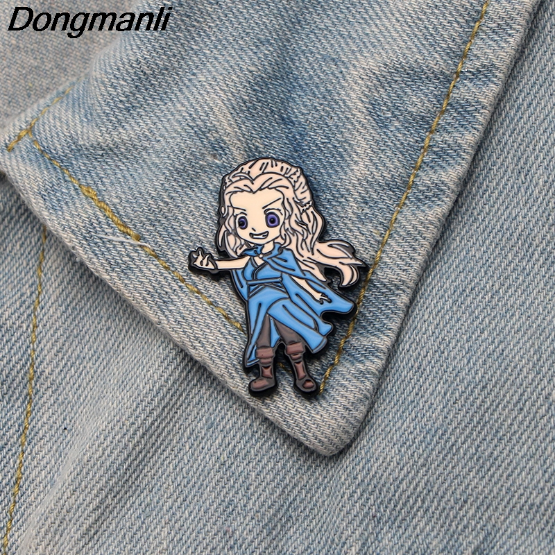 DMLSKY Game Of Thrones Brooch Emilia Clarke Pins Metal Badge Icon On The Backpack Pin Brooch For Clothing M2648