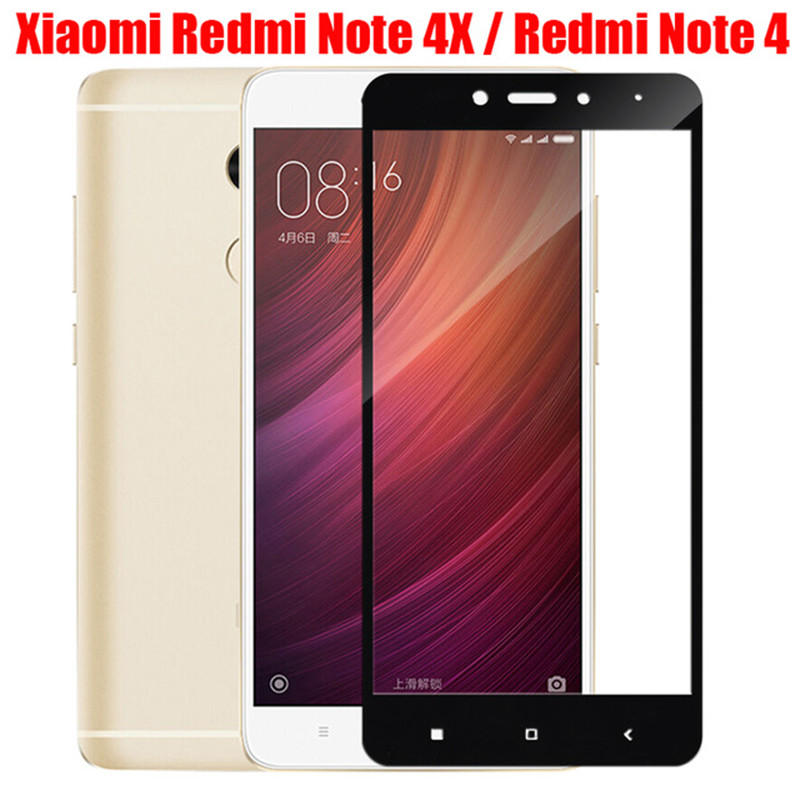 Image 5 - Full cover tempered glass for xiaomi redmi 4 note 4 4x screen protector on xiomi ksiomi note4 x4 gals on no 4 x protective film-in Phone Screen Protectors from Cellphones & Telecommunications