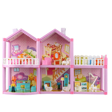 Doll House Miniature Dollhouse Toys For Children Diy Accessories Furniture Plastic Mini Girls Parent-Child Birthday Gifts