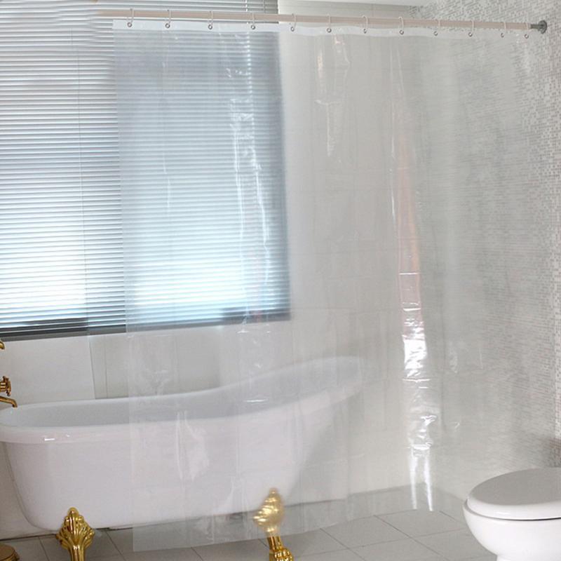 Waterproof Transparent Clear White Shower Curtain 100% PEVA Bath Shower Bathroom Use