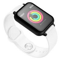 2019 New Arrival IP67 Waterproof Men Women Heart Rate Monitor Bluetooth Wristband Fitness Tracker SmartWatch Sport Bracelet #A