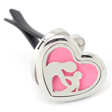 Wholesale Magnetics Heart Shape Car Perfume Locket 316 Stainless Steel Aromatherapy Essential Oil Diffuser Lockets
