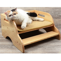 Petacc двухэтажный лестница узор Высокое качество деревянная кровать Cat сизаль ПЭТ шаг дом Кошки Скребут Lounge собраны Pet скребок