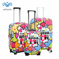 Enjoy Your Trip Stretch Fabric Luggage Cover Protector Personalization Travel Accessories Magic Tape Suitcase Covers Sizes S/M/L
