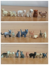 super mini solid pvc figure pet cats animals models toys children birthday gift toys holiday gift ornaments 22pcs/set