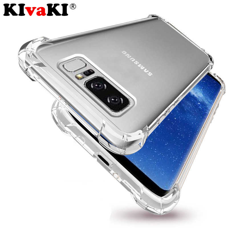 Shockproof Clear soft Silicone Case For Samsung Galaxy S8 S9 Plus S6 S7 edge A5 J3 J5 J7 2017 Note 8 9 J6 J4  A6 A8 2018 Cover