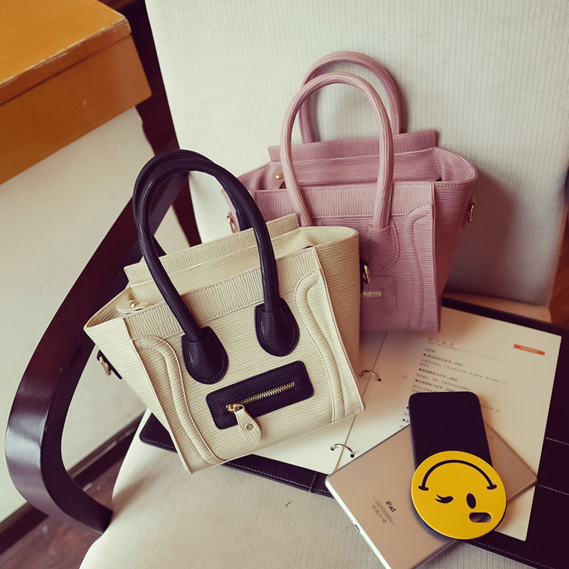 Women Leather Handbags Smile Messenger Bags Famous Brands Style Crossbody Bags 2016 High Quality Fashion Style
