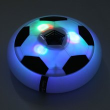 Красочный Свет Мигает Ball Toys Air Power Футбол Диск Скольжения Плавающей Футбол Крытый Игрушка Дети Рождественский Подарок Toys