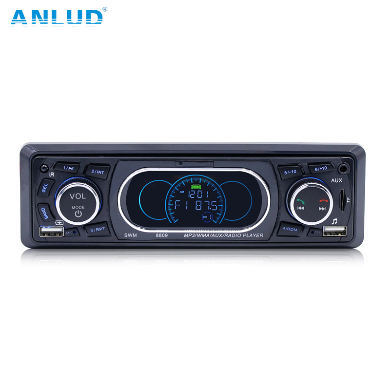 ANLUD Bluetooth Car Stereo Audio 1DIN MP3 Player In Dash FM Radio Music Radio Cassette Recorder Support USB AUX/TF Card 60W*4