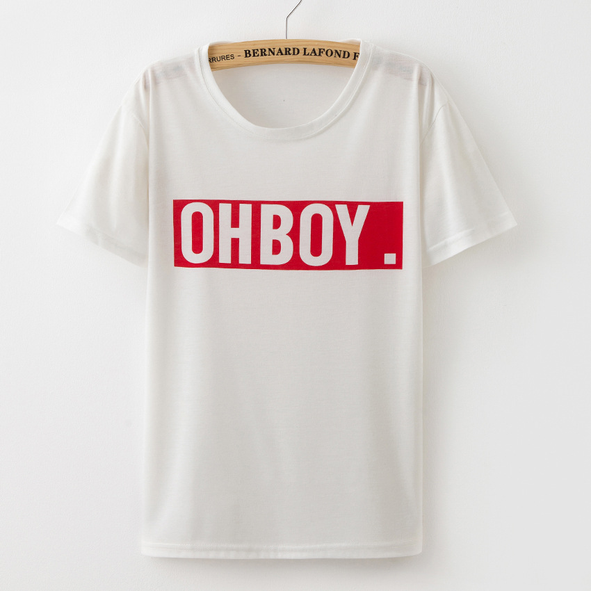 Hoffen OHBOY Drucken Sommer Tops 2017 New Fashion Damen T-Shirts O - Damenbekleidung - Foto 4