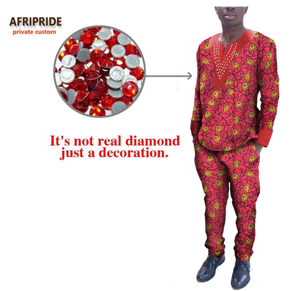 2017 afrikanska höstmäns kostym AFRIPRIDE privat anpassad O-hals - Nationella kläder