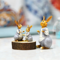 Small ornaments decorations Home Furnishing car wine Taiwan modern minimalist art adorable rabbit shooting props