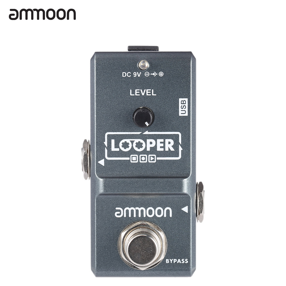 ammoon AP 09 Nano Loop Electric Guitar Effect Pedal Looper True Bypass Unlimited Overdubs 10 Minutes