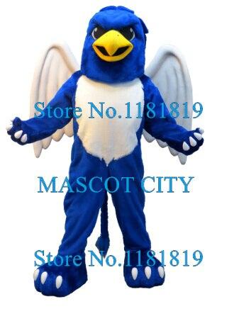 Bleu Gryphon Mascotte Griffon Costume adulte dessin animé personnage Anime Cosplay Costumes Mascotte déguisements Kits pour l'école