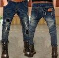 Roupas de inverno 2016 das crianças meninos calça jeans azul denim engrossar fleece menino jeans para meninos crianças grandes calças compridas causais calças de brim