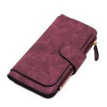 Brand Leather Women Wallets High Quality Designer Zipper Lon
