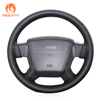 MEWANT Black Artificial Leather Car Steering Wheel Cover for Jeep Compass 2006 2010 Old Patriot 2007 2010