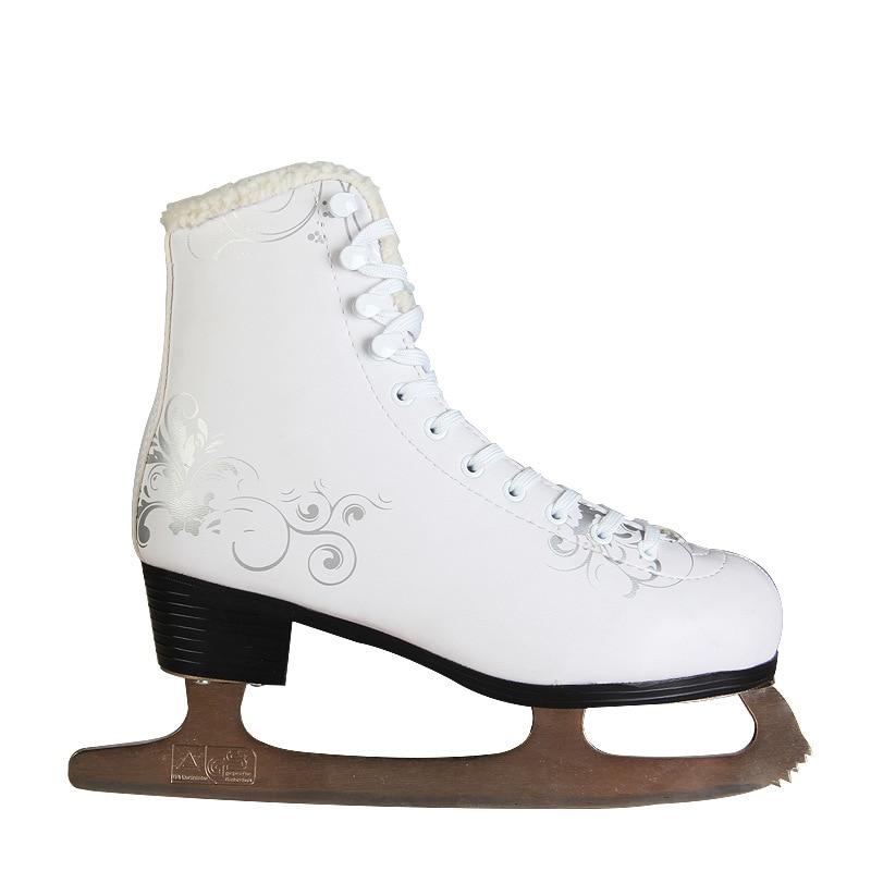 2018 nouveau adulte figure skate chaussures enfants vrais patins à glace vitesse patins chaussures femme chaussures - 2